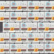 Sellos: ETIQUETAS ATM, SERIE COMPLETA, MADRID 92.. Lote 256053875