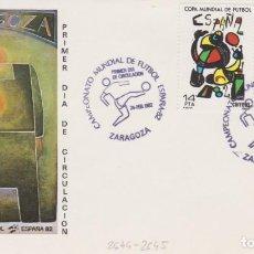 Sellos: AÑO 1982 EDIFIL 2644-2645 SPD FDC CAMPEONATO MUNDIAL DE FURBOL 82 ZARAGOZA. Lote 257275625