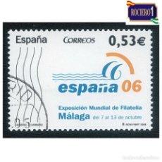 Sellos: ESPAÑA 2005. EDIFIL 4185. EXPO FILATELIA, MALAGA. NUEVO MATASELLO 1º DIA. Lote 257289530