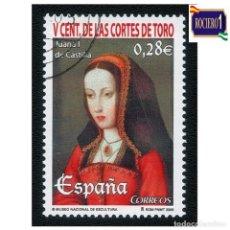 Sellos: ESPAÑA 2005. EDIFIL 4198. CORTES DE TORO,, JUANA DE CASTILLA. NUEVO-MATASELLO 1º DIA. Lote 257297450