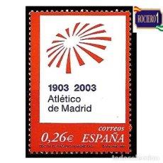 Sellos: ESPAÑA 2003. EDIFIL 3983. CLUB ATLÉTICO DE MADRID. NUEVO** MNH. Lote 257318985