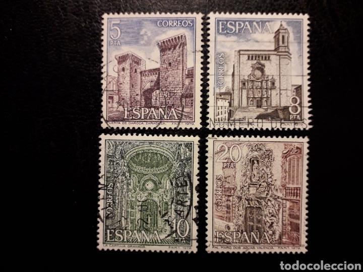 ESPAÑA EDIFIL 2527/30 SERIE COMPLETA USADA 1979 PAISAJES Y MONUMENTOS. ARQUITECTURA PEDIDO MÍNIMO 3€ (Sellos - España - Juan Carlos I - Desde 1.975 a 1.985 - Usados)