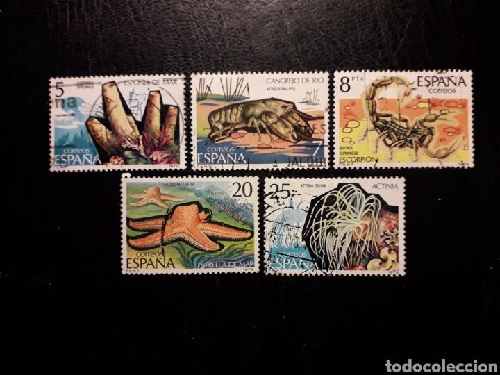 ESPAÑA EDIFIL 2531/5 SERIE COMPLETA USADA 1979 FAUNA. INVERTEBRADOS. PEDIDO MÍNIMO 3€ (Sellos - España - Juan Carlos I - Desde 1.975 a 1.985 - Usados)