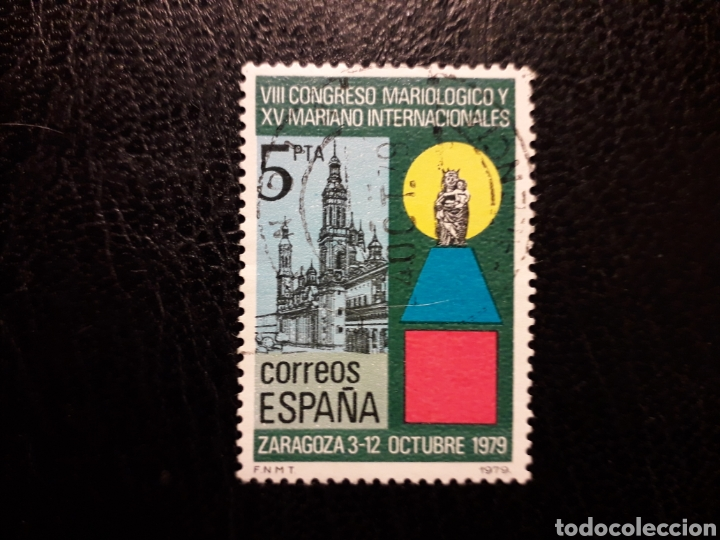 ESPAÑA EDIFIL 2543 SERIE COMPLETA USADA 1979 CONGRESO MARIANO ZARAGOZA PEDIDO MÍNIMO 3€ (Sellos - España - Juan Carlos I - Desde 1.975 a 1.985 - Usados)