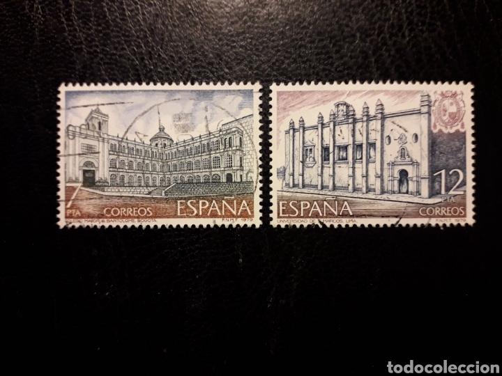 ESPAÑA EDIFIL 2544/5 SERIE COMPLETA USADA 1979 AMÉRICA-ESPAÑA ARQUITECTURA PEDIDO MÍNIMO 3€ (Sellos - España - Juan Carlos I - Desde 1.975 a 1.985 - Usados)