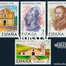 Sellos: 1976 ESPAÑA ED 2371/2374 HISPANIDAD V AMERICA **MNH PERFECTO ESTADO, NUEVO SIN CHARNELA (EDIFIL). Lote 257365630