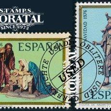 Sellos: 1976 ESPAÑA ED 2368/2369 NAVIDAD NAVIDAD (O) USADO, BUEN ESTADO (EDIFIL). Lote 257365645