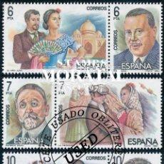Sellos: 1984 ESPAÑA ED 2762/2767 ZARZUELA (DÍPTICOS) III MÚSICA (O) USADO, BUEN ESTADO (EDIFIL). Lote 257365665