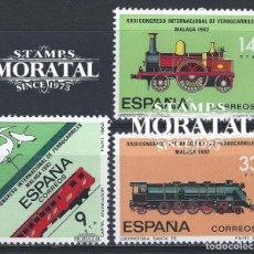Sellos: 1982 ESPAÑA ED 2670/2672 FERROCARRIL FERROCARRIL **MNH PERFECTO ESTADO, NUEVO SIN CHARNELA (EDIFIL. Lote 257365675