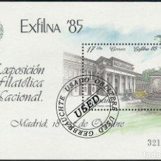 Sellos: 1985 ESPAÑA ED 2814 HB EXFILNA'85 EXPOSICIÓN (O) USADO, BUEN ESTADO (EDIFIL). Lote 257365705