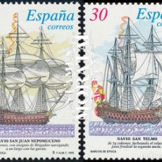 Sellos: 1995 ESPAÑA ED 3352/3353 SH BARCOS EPOCA BARCOS **MNH PERFECTO ESTADO, NUEVO SIN CHARNELA (EDIFIL). Lote 257365895