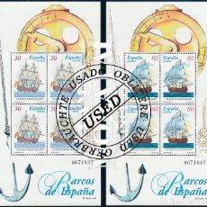 Selos: 1996 ESPAÑA ED 3415/3416 HB BARCOS ÉPOCA BARCOS (O) USADO, BUEN ESTADO (EDIFIL). Lote 257365940