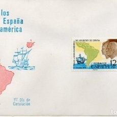 Sellos: ESPAÑA 1976 SOBRE PRIMER DIA 1ER. VIAJE DE LOS REYES A HISPANOAMERICA S/MATASELLO. Lote 257391790