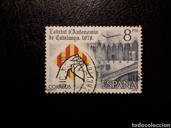 ESPAÑA EDIFIL 2546 SERIE COMPLETA USADA 1979 ESTATUT AUTONOMIA CATALUNYA PEDIDO MÍNIMO 3€. MANOS (Sellos - España - Juan Carlos I - Desde 1.975 a 1.985 - Usados)