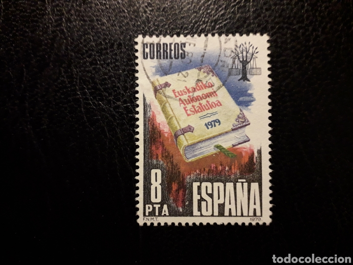 ESPAÑA EDIFIL 2547 SERIE COMPLETA USADA 1979 ESTATUT AUTONOMIA EUSKADI PEDIDO MÍNIMO 3€ (Sellos - España - Juan Carlos I - Desde 1.975 a 1.985 - Usados)