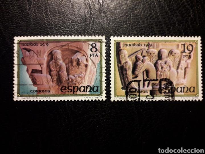 ESPAÑA EDIFIL 2550/1 SERIE COMPLETA USADA 1979 NAVIDAD NACIMIENTO Y HUÍDA A EGIPTO PEDIDO MÍNIMO 3€ (Sellos - España - Juan Carlos I - Desde 1.975 a 1.985 - Usados)