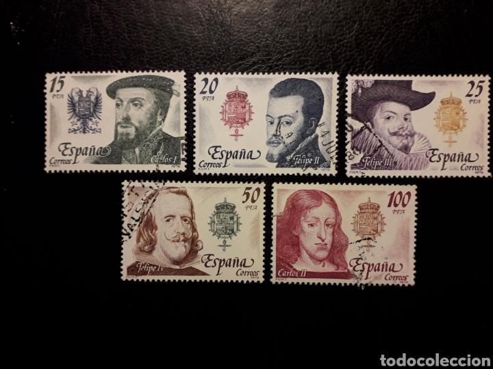 ESPAÑA EDIFIL 2552/6 SERIE COMPLETA USADA 1979 REYES DE LA CASA DE AUSTRIA PEDIDO MÍNIMO 3€ (Sellos - España - Juan Carlos I - Desde 1.975 a 1.985 - Usados)