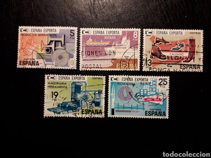ESPAÑA EDIFIL 2563/7 SERIE COMPLETA USADA 1980 ESPAÑA EXPORTA PEDIDO MÍNIMO 3€ (Sellos - España - Juan Carlos I - Desde 1.975 a 1.985 - Usados)