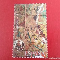 Selos: SELLO TAPIZ DE LA CREACIÓN GERONA ESPAÑA. Lote 257603190