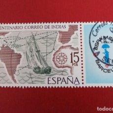 Sellos: SELLO CON BANDELETA CORREO DE INDIAS ESPAMER 77 ESPAÑA. Lote 257604085