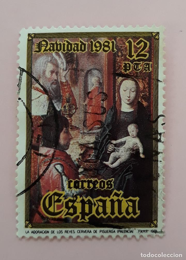 SELLO ESPAÑA EDIFIL 2633. NAVIDAD AÑO 1981. USADO. (Sellos - España - Juan Carlos I - Desde 1.975 a 1.985 - Usados)