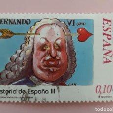 Sellos: SELLO HISTORIA DE ESPAÑA III. EDIFIL 3918. FERNANDO VI. AÑO 2002. USADO.. Lote 257710285