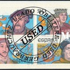Selos: 1987 ESPAÑA ED 2919C CARNET CENT. DESCUBRIMIENTO AMERICA (O) USADO, BUEN ESTADO (EDIFIL). Lote 258273860
