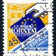 Selos: 1992 ESPAÑA ED 3226 MERCADO ÚNICO (O) USADO, BUEN ESTADO (EDIFIL). Lote 258275730