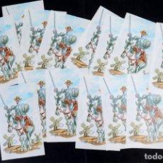 Francobolli: 14 SELLOS CONMEMORATIVOS DE DON QUIJOTE DE ANTONIO MINGOTE. Lote 215465585