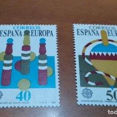 Selos: 2 SELLOS DE 40 Y 50 PESETAS EUROPA 1989 EDIFIL 3008 AL 3009 NUEVOS. Lote 260049340