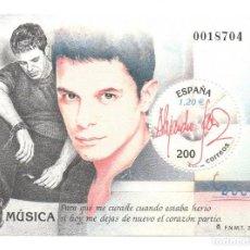 Sellos: HOJITA SELLO MUSICA ALEJANDRO SANZ (FACIAL 1,20 €). Lote 260077940