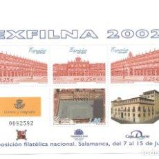 Sellos: HOJITA SELLOS EXFILNA 2002 (FACIAL 2,55 €). Lote 260078640