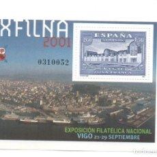 Sellos: HOJITA SELLOS EXFILNA 2001 (FACIAL 1,56 €). Lote 260079535