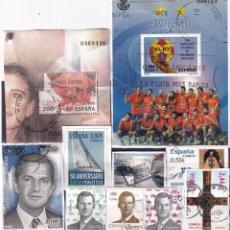 Sellos: LOTE NUMERO 5 CON SELLOS SIN LAVAR DE ESPAÑA. DESTACAN CUATRO FACIALES ALTOS (1,20-2-2,44 Y 3,10 EUR. Lote 260346115