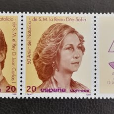 Francobolli: ESPAÑA N°2927/28 MNH** NATALICIO DE SS.MM LOS REYES 1988 (FOTOGRAFÍA REAL). Lote 260873465