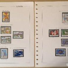 Sellos: AÑO 1990 COMPLETO - SELLOS DE ESPAÑA NUEVOS MONTADOS EN HOJAS ANFIL. Lote 261160410