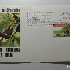 Sellos: ESPAÑA 1983 - SPD - FDC - ESTATUTO DE AUTONOMIA DE LA RIOJA - EDIFIL Nº 2689. Lote 261179070