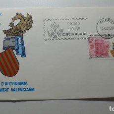 Sellos: ESPAÑA 1983 - SPD - FDC - ESTATUTO DE AUTONOMIA DE VALENCIA - EDIFIL Nº 2691 - MATASELLOS MADRID. Lote 261179600