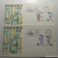 Sellos: ESPAÑA 1983 - SPD - FDC - PERSONAJES - EDIFIL Nº 2705/2708 - MATASELLOS MADRID. Lote 261183420