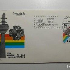 Sellos: ESPAÑA 1983 - SPD - FDC AÑO MUNDIAL COMUNICACIONES - EDIFIL Nº 2709 - MATASELLOS MADRID. Lote 261184195