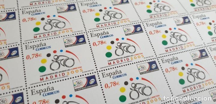PLIEGO COMPLETO - FACIAL 39 € (50 X 0,78€ ) - CAMPEONATO DE CICLISMO - EDIFIL 4184 (Sellos - España - Juan Carlos I - Desde 2.000 - Nuevos)