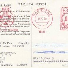 Sellos: TARJETA CON FRANQUEO MECANICO MUTUA NACIONAL DEL AUTOMOVIL 1979. Lote 261259825