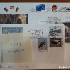 Sellos: SELLOS ESPAÑA SOBRES PRIMER DIA CIRCULACION 1999 AÑO COMPLETO. Lote 261518795