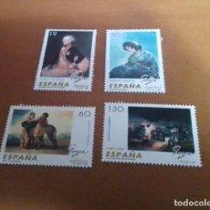 Selos: 4 SELLOS PINTURA ESPAÑOLA FRANCISO DE GOYA Y LUCIENTES 1996 EDIFIL 3437 AL 3440 NUEVOS. Lote 261546640