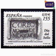 Sellos: ESPAÑA 2001. EDIFIL 3780. DÍA DEL SELLO. BUZÓN DE CORREOS. NUEVO** MNH. Lote 261626245