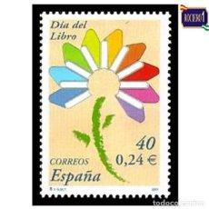 Sellos: ESPAÑA 2001. EDIFIL 3789. DÍA DEL LIBRO. NUEVO** MNH. Lote 261627865