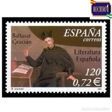 Sellos: ESPAÑA 2001. EDIFIL 3808. LITERATURA. BALTAZAR GRACIAN. NUEVO** MNH. Lote 261629100