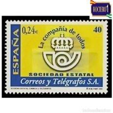 Sellos: ESPAÑA 2001. EDIFIL 3815. CORREOS Y TELEGRAFOS. NUEVO** MNH. Lote 261630330