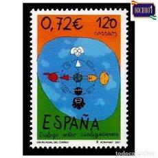 Sellos: ESPAÑA 2001. EDIFIL 3820. DIA MUNDIAL DE CORREOS. NUEVO** MNH. Lote 261631230
