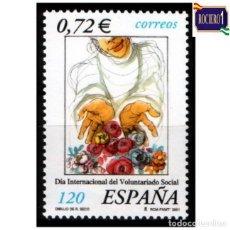 Sellos: ESPAÑA 2001. EDIFIL 3842. DÍA INTERNACIONAL DEL VOLUNTARIADO SOCIAL. NUEVO** MNH. Lote 261632365